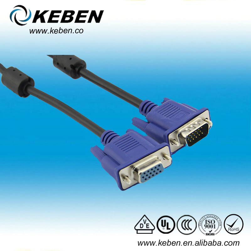 superior quality male 15 pin d sub rgb vga cable