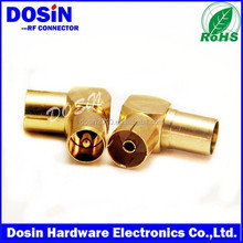 gold right angle pal male to female adptor connector