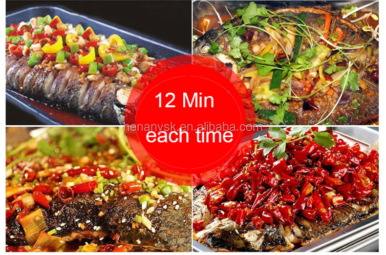Chinese Portable Stainless Steel Fish Bbq Gas Grill  Griddle Wood Charcoal Smoker Korean Restaurant Equipment With Scraper