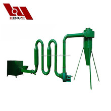 Hot air/airflow/pipe sawdust dryer