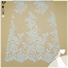 Custom wholesale hand made sequin floral embroidery bridal lace fabric DH-BF579