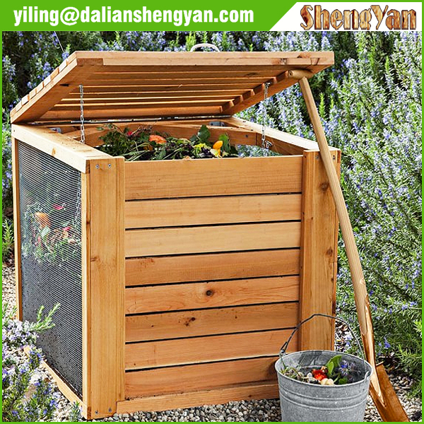 Eco-friendly Wood Composter Bin