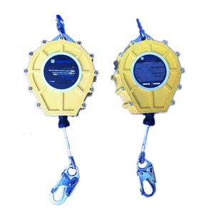 Wire rope safety shock absorber lifeline self-retracting lifeline