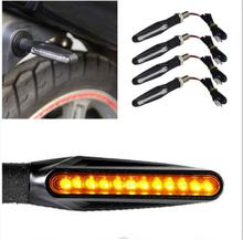 Motorcycle LED turn signal turn light signal light electric car one-shaped 12LED indicator