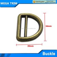 D shaped brass flat buckles belt for handbag