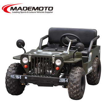 Army Color Mini Mademoto With Winch Amp Trailer And Winshield