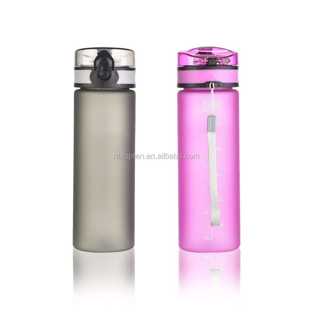 Fashionable 600ml bpa free colorful water bottle design patent