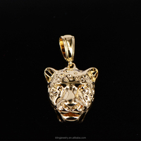 leopard pendant necklace in sterling silver 925