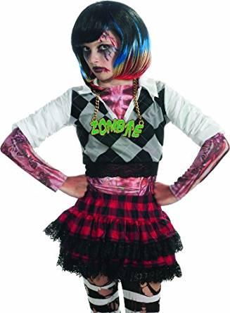 Rubie's Costume Zombie Colorful Streaks Costume Wig