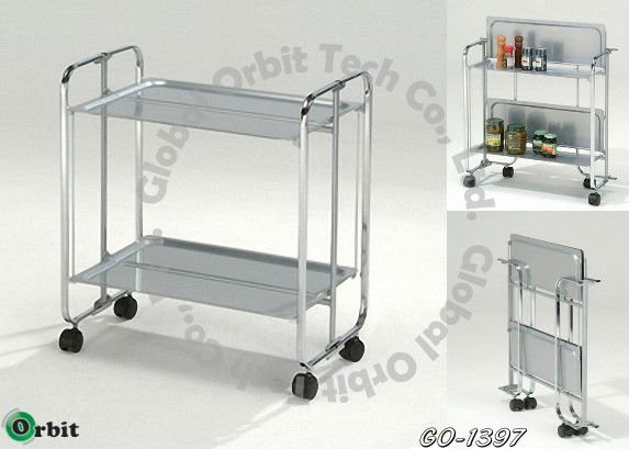 Folding Service Cart,Trolley / Storage Cart,Dining Car