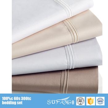 Wholesale Price Ribbon Embroidery Hotel Linen Bedsheet Pakistan