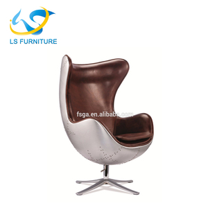 Delicieux Retro Style Aviation Leather Egg Shape Chair Standing Egg Chair