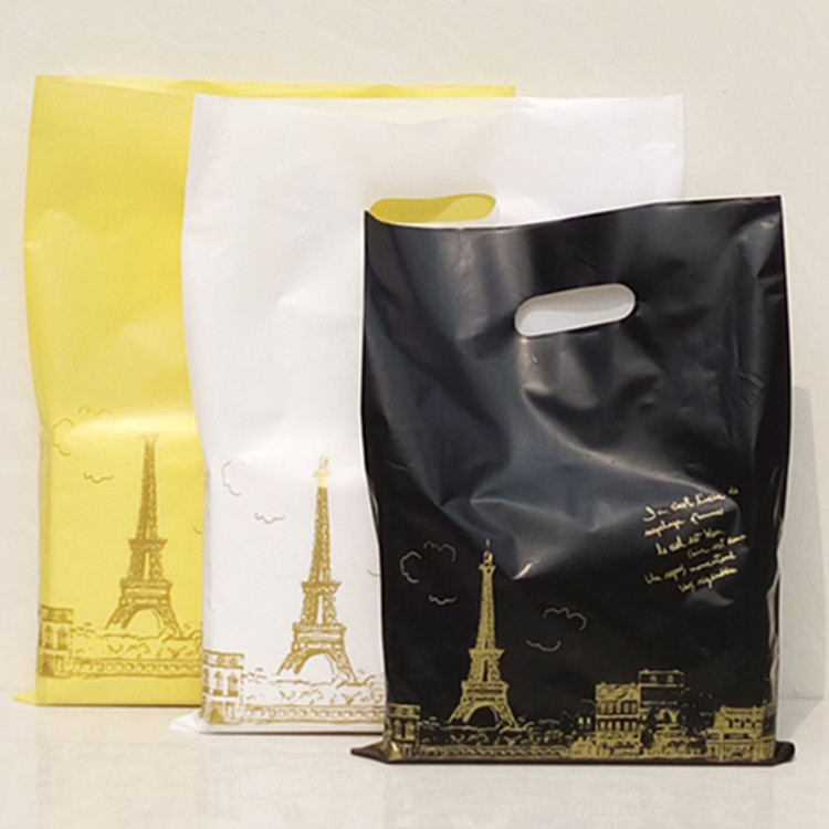 Low cost Multy-type biodegradable die cut shopping bags