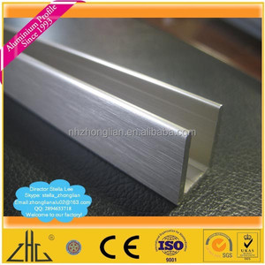 Wow!! Glass aluminium profile U/ aluminium profile for heat sink led light/glass aluminium profile with rubber profile for glass