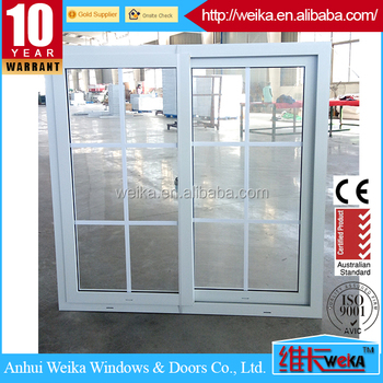 Available style 3 trackers frame pvc sliding tinted glass window in Pakistan