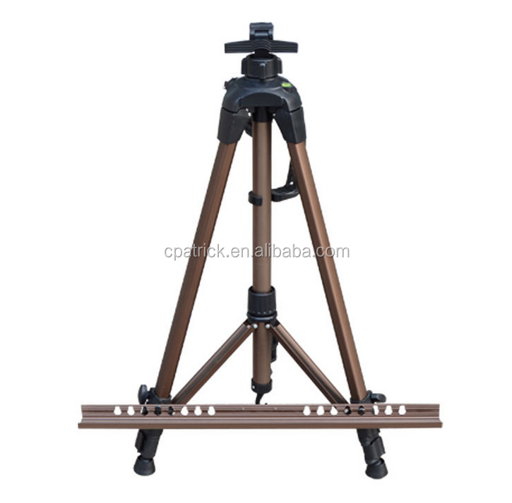 Colourful Ourdoor sketching Aluminium Alloy Tripod Easel with Level meter design and rotation floor mats 2017