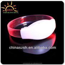 Factory export Led Light Up TPU Sound Activated Bracelet 2015 hot sale bracelet best for event and party decoration