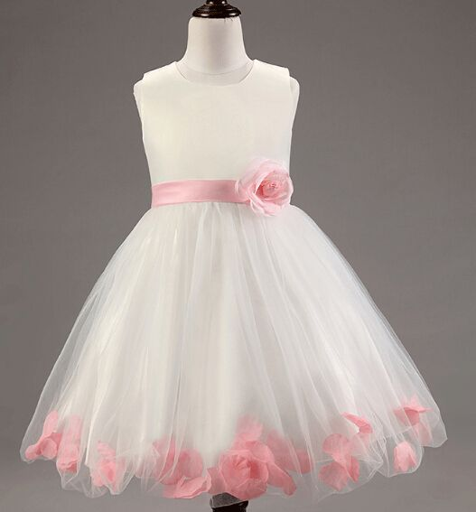 ivory color party wear cutting and sewing baby frocks