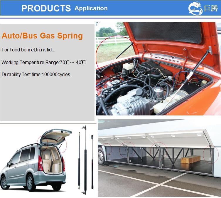 Piezas de repuesto para coche, resortes para maletero, soporte de elevación, resortes de Gas para coche