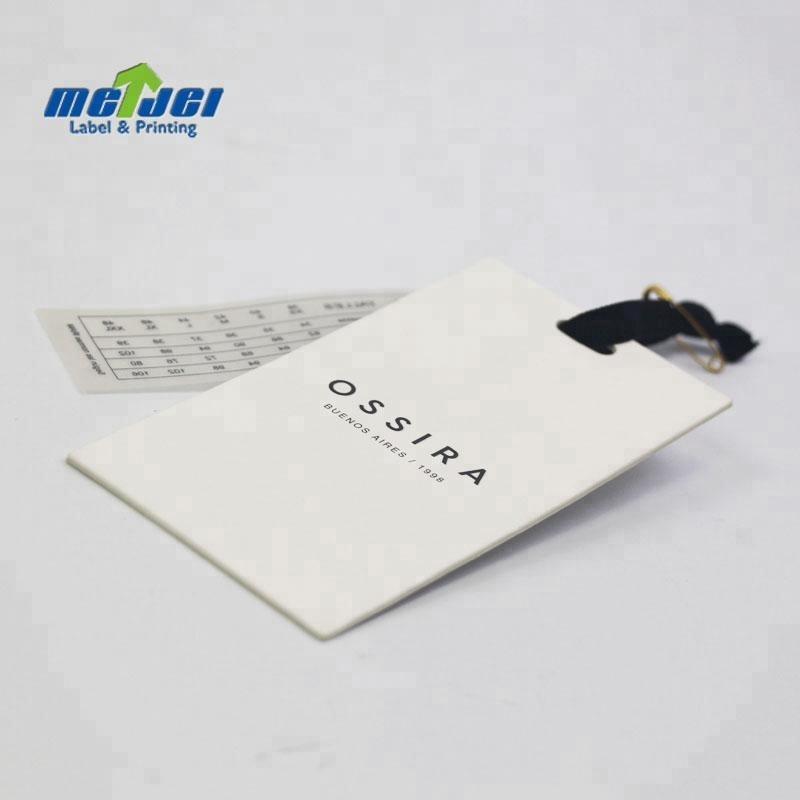 Impression classique décoratif artisanat papier étiquette volante pour jeans