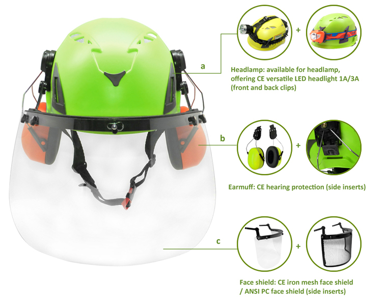 Hot selling electrical safety helmet for construction/Treeclimbing/arboriculture 9