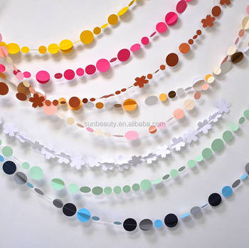 Assorted Color 3 6m 3d Paper Circle Garland Party Paper Crafts Buy
