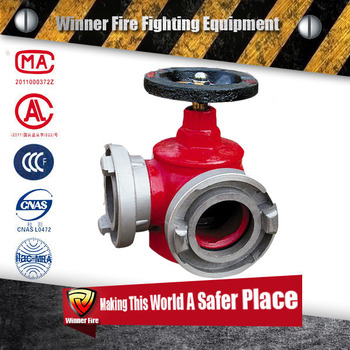 2017 DN65 single valve and 2 -way indoor fire hydrant for fire hose