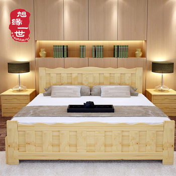 Cheap Price Solid Wooden Bed Room Furniture Indian Wood Double