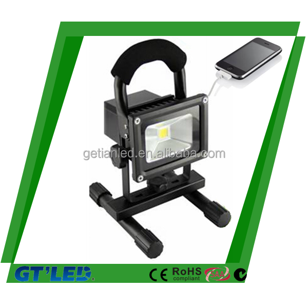 Colourful 10W/20W rechargeable LED flood light with SAA CE RoHS C-tick approved