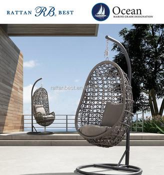 Outdoor Rattan Egg Chair Swing