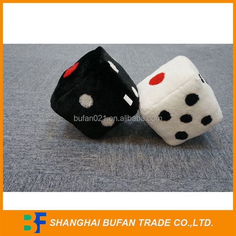 Special customized new products funny safety baby plush toy dice
