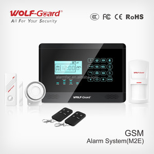 gsm alarm system, alarm system with GSM+RFID wireless, security alarm system with smoke detector+door/window sensor
