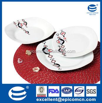 Nice Ceramic Square Plates Classic Porcelain Items Dinnerware