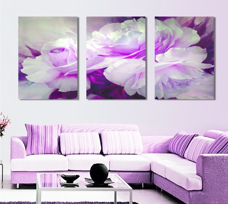 2016 Painting By Numbers Fallout Canvas Painting 3 Piece Wall Art Lover Flower Big Perfect Canvas On Picture Modern Home Decor