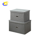 Modern Washable Fabric Storage Boxes Bin with Removable Lid