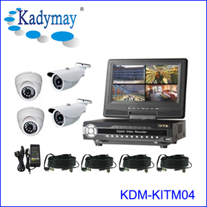 "Hot Sell !!! Economic DIY security system solution cctv with 7"" LCD Monitor"