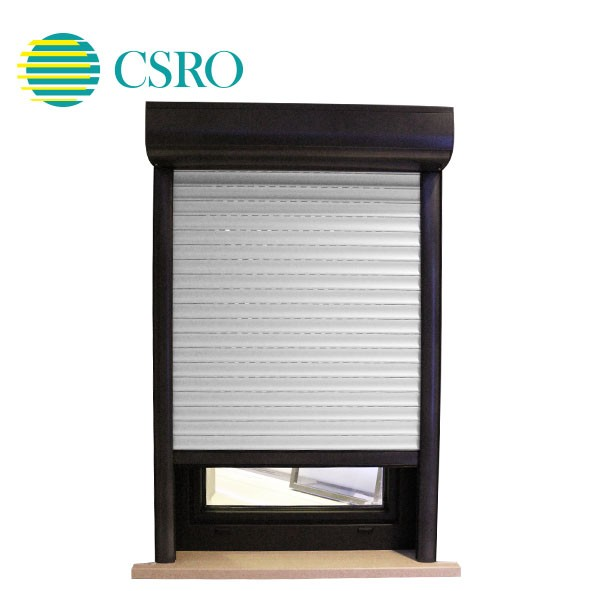 Electrical french anti-theft aluminum shutter windows