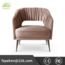 Luxury durable modern hotel single seater lounge chair