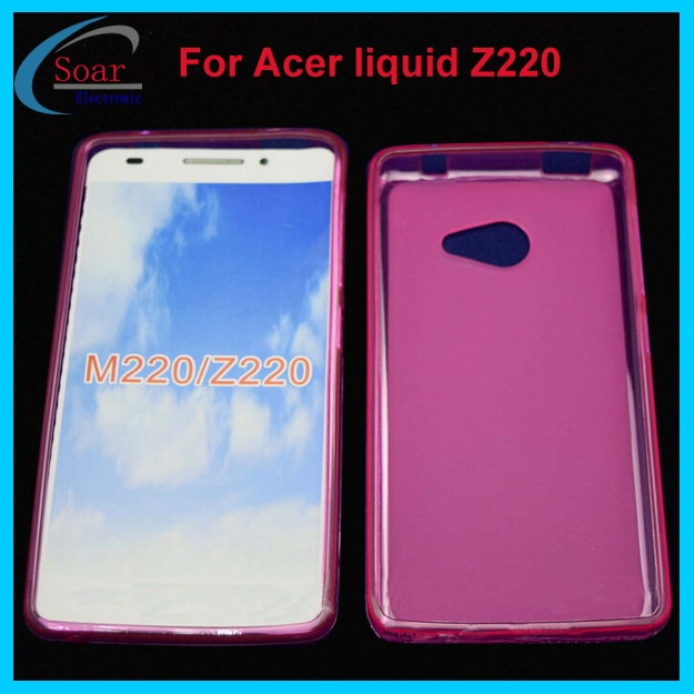 For Acer Liquid Z220 Pudding Tpu CaseSoft Jelly Gel Cover Case Z220Phone