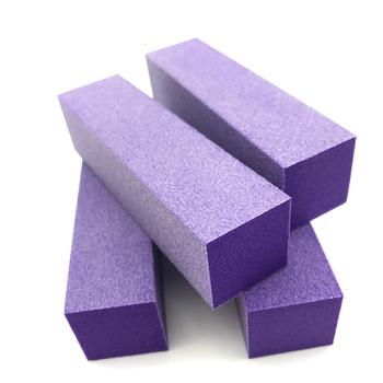 Purple Nail Polishing Buffer Shiner Sanding Block Eva File Sponge
