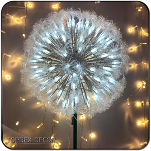 2019 new year Fiber Optic Dandelion Flower fireworks lighting for Christmas decorations outdoor