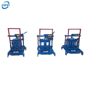 6 inches handmade concrete hollow block making machine price