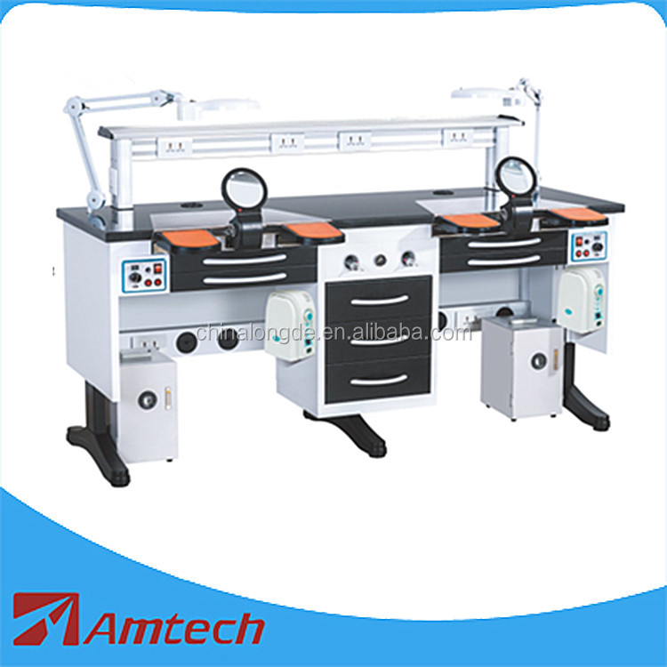 Seasons promotion! Best selling twin dental lab working bench/ dental workstation AMJ-56