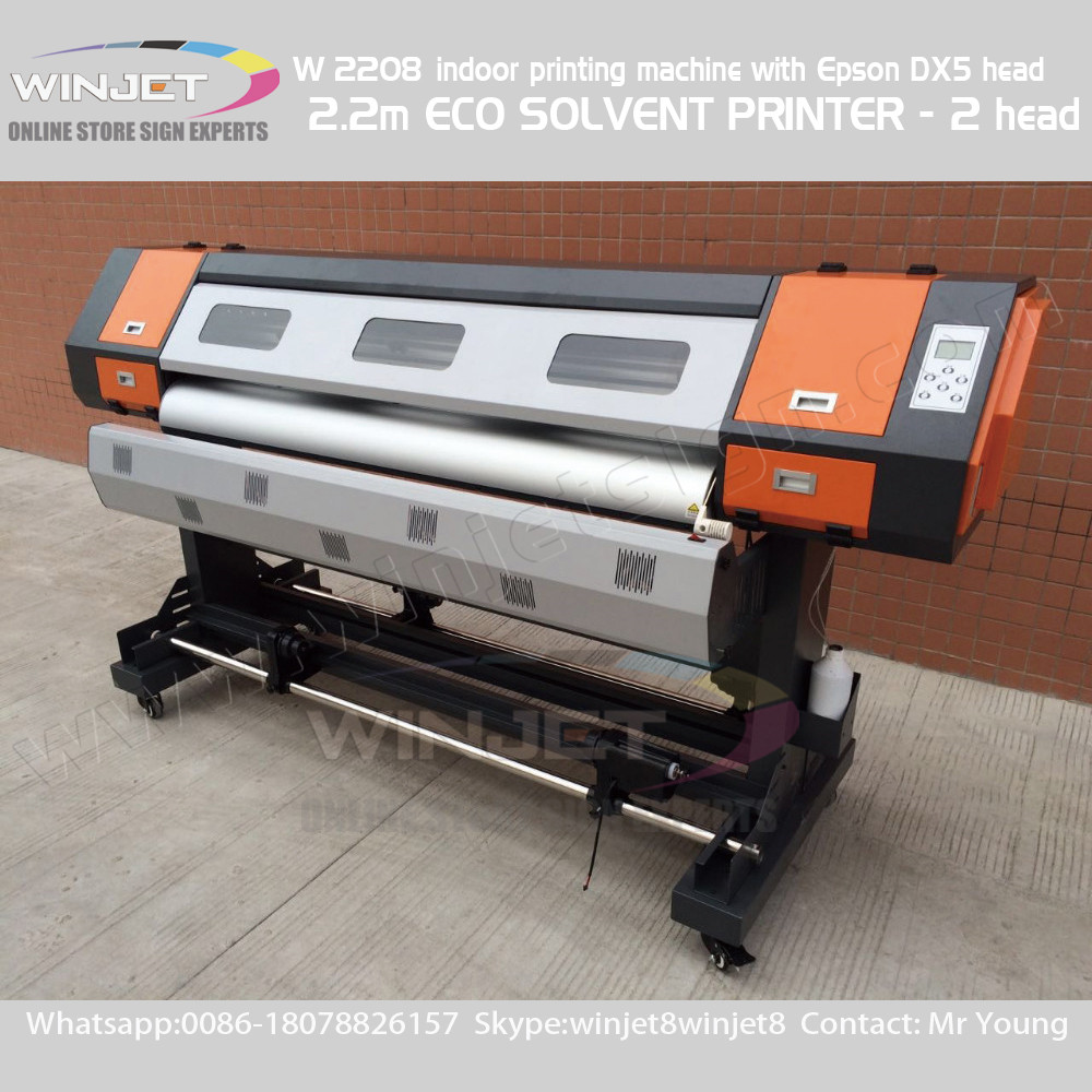 Hot sale machine to print vinyl stickers eco solvent inkjet printer industrial inkjet printer