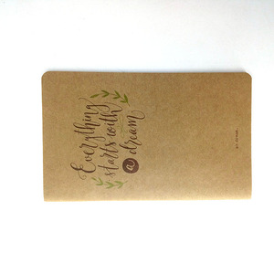 Recycle Kraft Paper Covers Black Line Printing A5 Notebook