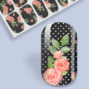 New Fashionable Stylish 2D Type Fantastic Ble Nail Sticker