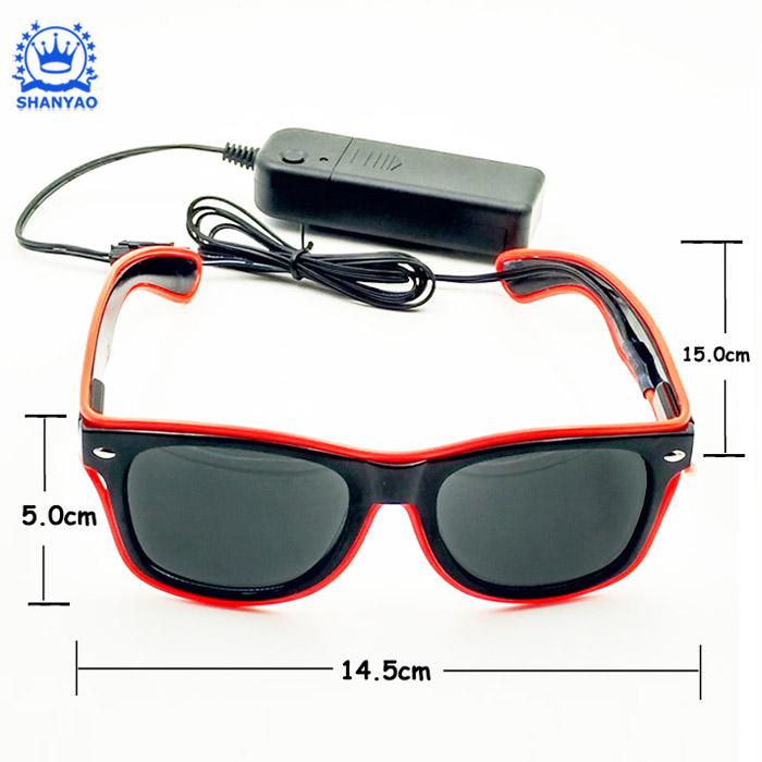 Hot Bán EL Ánh Sáng Lên Sunglasses LED Kính Cho Quảng Cáo Các Sự Kiện Và Nguồn Cung Cấp Bên