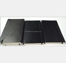 Most Popular Black Leather Cover Notebook, Soft Weekly Planner