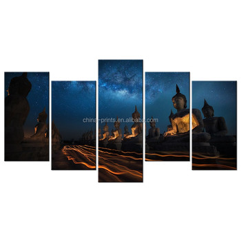 Buddha And Starry Sky HD Photo Canvas Painting/Thai Buddha Canvas Print/  Canvas Printing