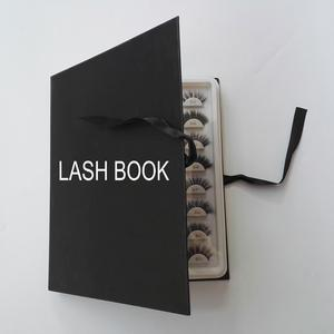 Wholesale ali best sellers individual eye lash book custom packaging with shape box 16 / 8 / 6 / 5 pairs eyelash book